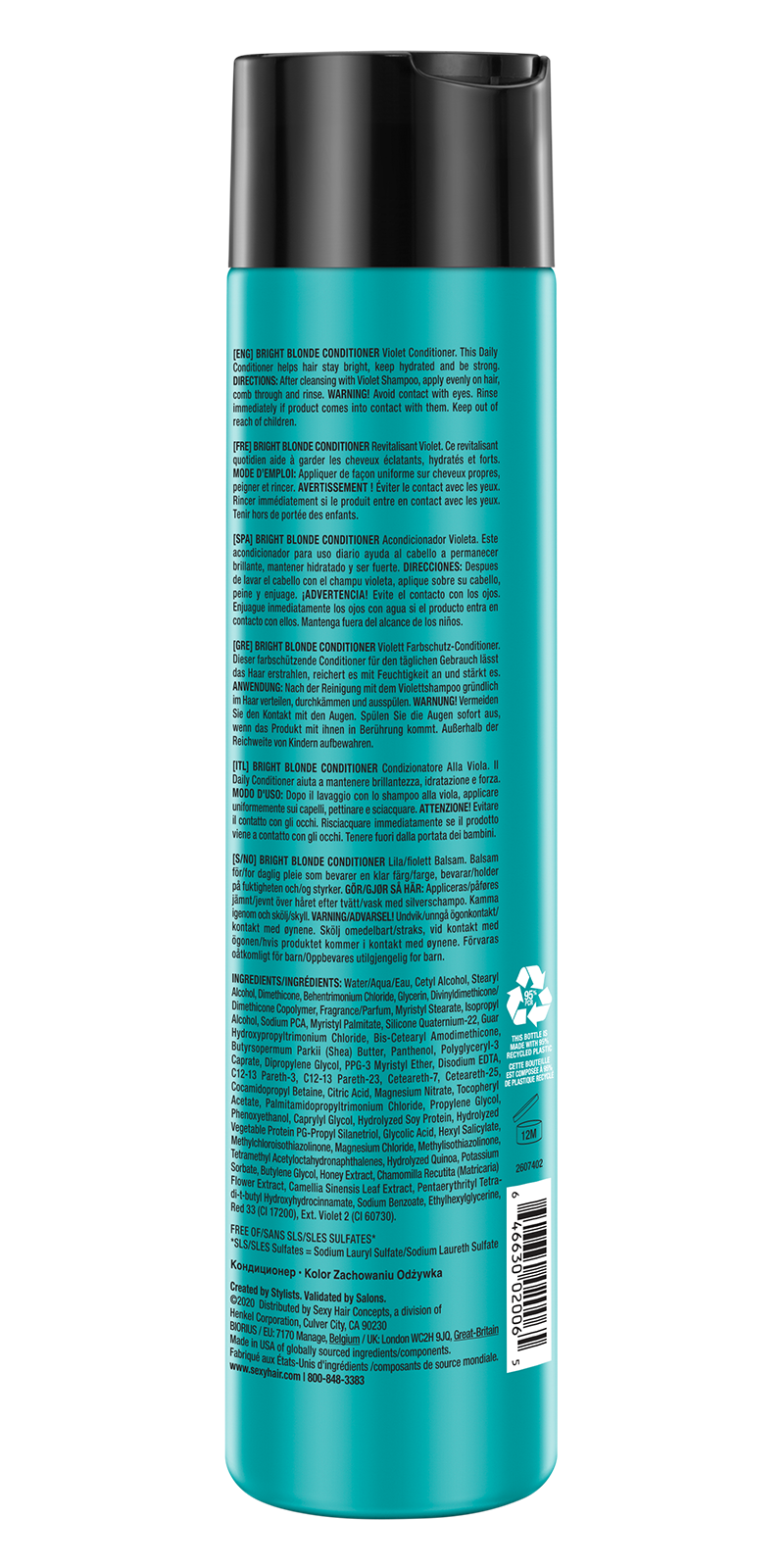 HEALTHY Bright Blonde Conditioner RETAIL 800x1600 back